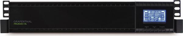 GRAFENTHAL USV PR-3000-HS ONLINE ECO MODE RACK MOUNT 2U USB RS232 LCD