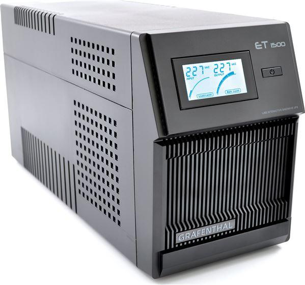 GRAFENTHAL USV ET-1500 LINE INTERACTIVE LCD USB AVR 1500VA 1050W PURE SINEWAVE RJ11 11.6KG CE ROHS G
