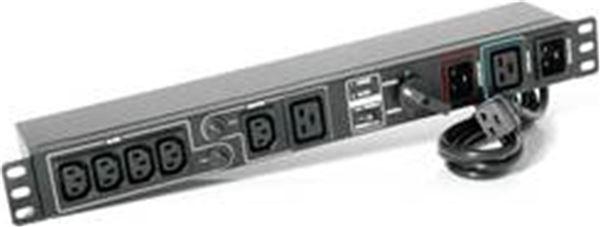 GRAFENTHAL USV BYPASS PDU IEC RM 16A 5xIEC 10A 1xIEC 16A 2x CIRCUIT BREAKERS