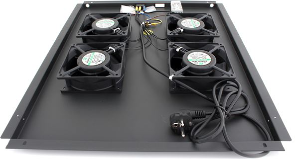 GRAFENTHAL RACK FAN 19'' 4x VENTILATOR D800 WITH THERMOSTAT