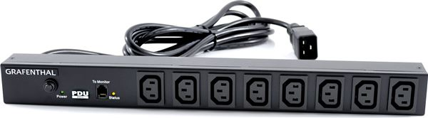 GRAFENTHAL PD-1010 BASIC PDU, 8xC13 OUT 1xC20 IN, 16A, 230V