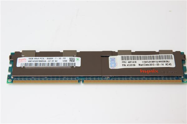 IBM MEM 16GB PC3-8500 DDR3 1066MHz 4Rx4 SDRAM RDIMM CL7