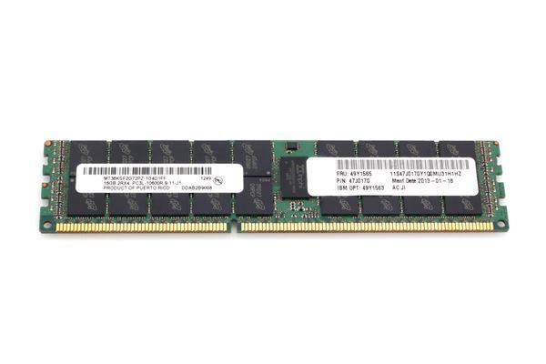 LENOVO MEM 16GB PC3L-10600 2Rx4 CL9 ECC DDR3 LP RDIMM 1333MHz 1.35V