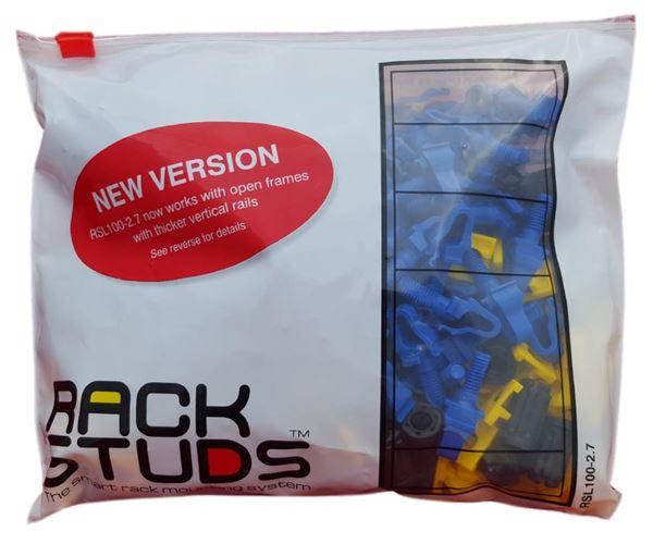 RACKSTUDS-BLUE 100PCS Hole size 9,2-9,6mm - rail thickness 2.2