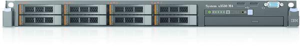 IBM SYSTEM x3530M4 XE 6C 1.9GHz E5-2420 4GB 0GB 3.5'' HS SAS/SATA NO DVD 1x460W