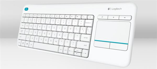 LOGITECH KEYBOARD WIRLESS K400 PLUS RF GERMAN WEISS QWERTZ
