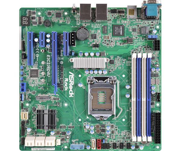 ASROCK MAINBOARD MICROATX DUAL GB LAN SOCKET 1151 UP TO 64GB DDR4