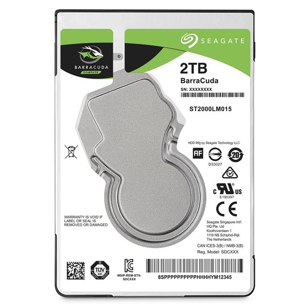 SEAGATE GUARDIAN BARRACUDA HDD 2TB 6G SATA 2.5''