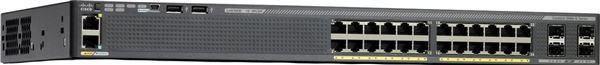 CISCO SWITCH CATALYST 2960X POE+ (370W) 24 x 10/100/1000 (PoE+) 4xGIGABIT SFP